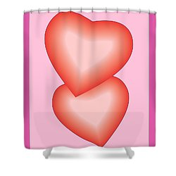 Valentine Hearts Shower Curtain by Sherril Porter