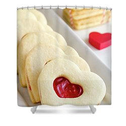 Shower Curtain featuring the photograph Valentines Day Treats by Teri Virbickis