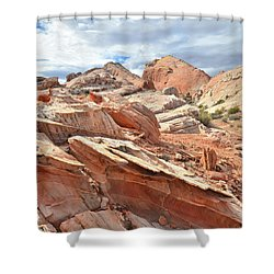 Valley Of Fire High Country Shower Curtain by Ray Mathis
