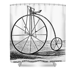 Velocipede, 1869 Shower Curtain by Granger