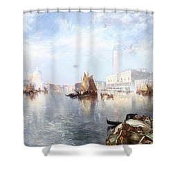 Venetian Grand Canal Shower Curtain by Thomas Moran
