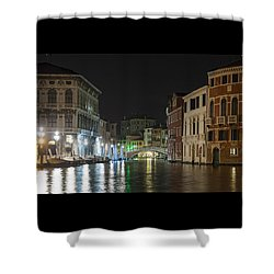 Shower Curtain featuring the photograph Romantic Venice  by Silvia Bruno