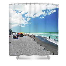 Shower Curtain featuring the photograph Venice Beach by Gary Wonning