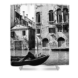 Shower Curtain featuring the photograph Venice Canal, 1969 by Granger