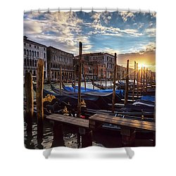 Venice Shower Curtain by Evgeni Dinev
