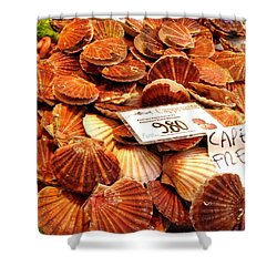 Venice Fish Market Shower Curtain