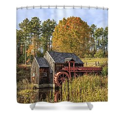 Shower Curtain featuring the photograph Vermont Grist Mill by Edward Fielding
