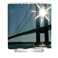 Verrazano Bridge Starburst Shower Curtain
