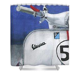 Vespa 53 Shower Curtain