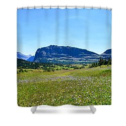 Shower Curtain featuring the photograph View From Logans Pass by Dacia Doroff