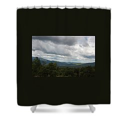 View From Mount Washington Shower Curtain by Suzanne Gaff