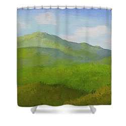 Shower Curtain featuring the painting View From The Bluffs by Frank Wilson