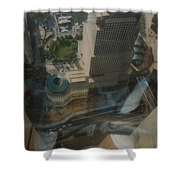 View From The W T C Shower Curtain by Rob Hans