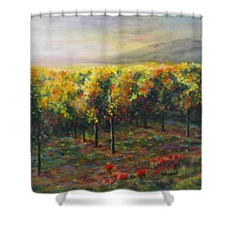 Vineyard Glow Shower Curtain