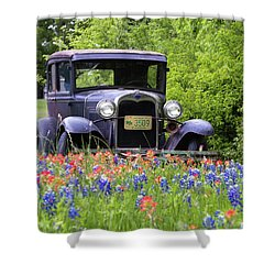 Vintage Ford Automobile Shower Curtain
