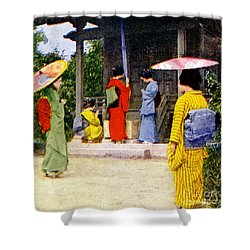 Vintage Japanese Art Shower Curtain by Hawaiian Legacy Archive - Printscapes