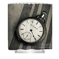 Shower Curtain featuring the photograph Vintage Pocket Watch by Edward Fielding