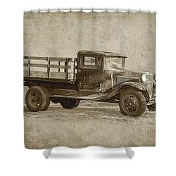 Vintage Truck Shower Curtain