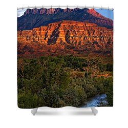 Virgin River Near Zion National Park Shower Curtain