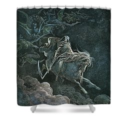 Vision Of Death Shower Curtain by Granger