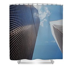W T C 1 And 2 Shower Curtain by Rob Hans