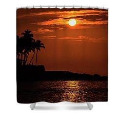 Shower Curtain featuring the photograph Waikoloa Sunset by Pamela Walton