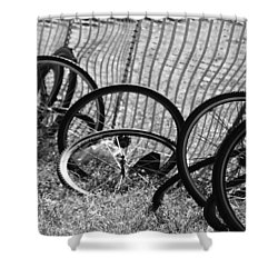 Waiting For A Ride Shower Curtain by Lauri Novak