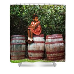 Shower Curtain featuring the photograph Waiting For Father 3 by Timothy Bulone