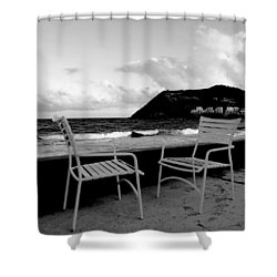 Waiting Shower Curtain by Ian  MacDonald