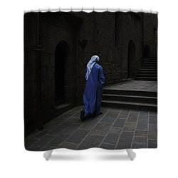 Walk Of Faith Shower Curtain by Therese Alcorn