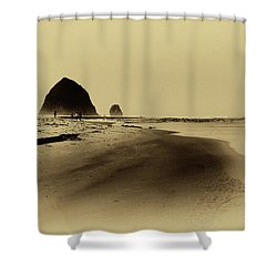 Walking The Beach Shower Curtain by David Patterson