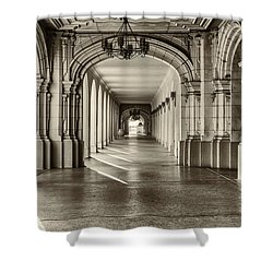 Walkway Shower Curtain by Joseph S Giacalone
