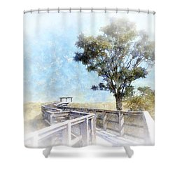 Walkway To Paradise Shower Curtain