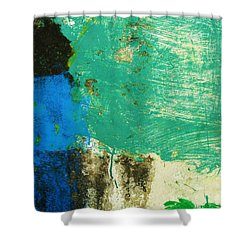 Shower Curtain featuring the photograph Wall Abstract 70 by Maria Huntley