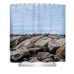 Walton Lighthouse Shower Curtain by James Hammond