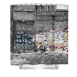 Warehouse In Lisbon Shower Curtain by Ehiji Etomi