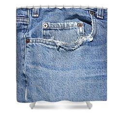 Worn Jeans Shower Curtain