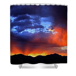 Wasatch Sunrise Shower Curtain