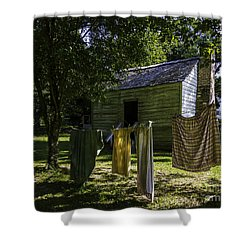 Wash Day Shower Curtain by Ken Frischkorn