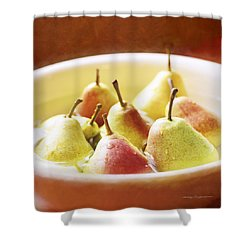 Washing Pears Shower Curtain