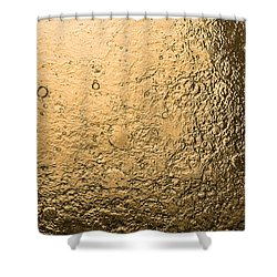 Water Abstraction - Liquid Gold Shower Curtain by Alex Potemkin