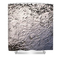Water Abstraction - Liquid Metal Shower Curtain by Alex Potemkin