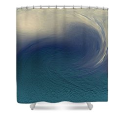 Water And Clouds Shower Curtain by Linda Sannuti