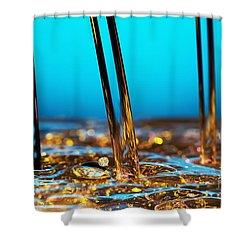 Water And Oil Shower Curtain by Setsiri Silapasuwanchai