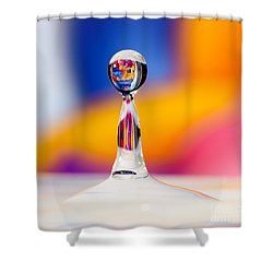 Shower Curtain featuring the photograph Water Drop by Colin Rayner