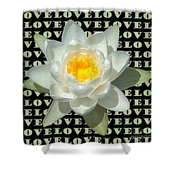 Water Lily Love Shower Curtain by Jeannette Hunt