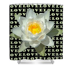 Water Lily Love Shower Curtain