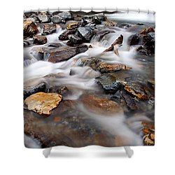 Water On The Rocks Shower Curtain