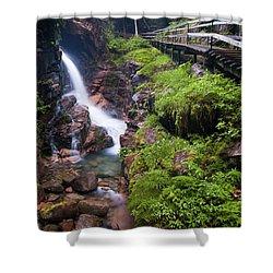 Waterfall  Shower Curtain by Sebastian Musial