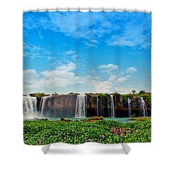 waterfalls Draynur Shower Curtain